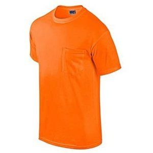 Gildan USA 2 Pack Adult Pocket Tee Shirt Orange